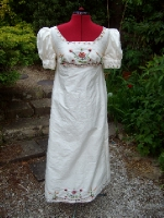 Hand embroidered regency dress