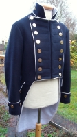 Napoleonic regency british naval lieutenants tail coat
